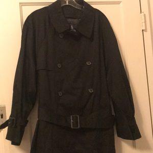 London Fog Men's Black Trenchcoat
